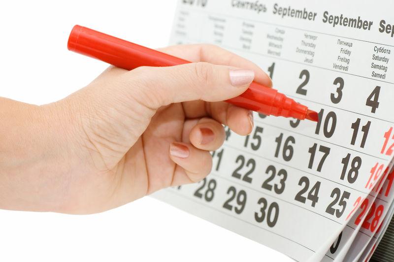 Дата родов в календаре